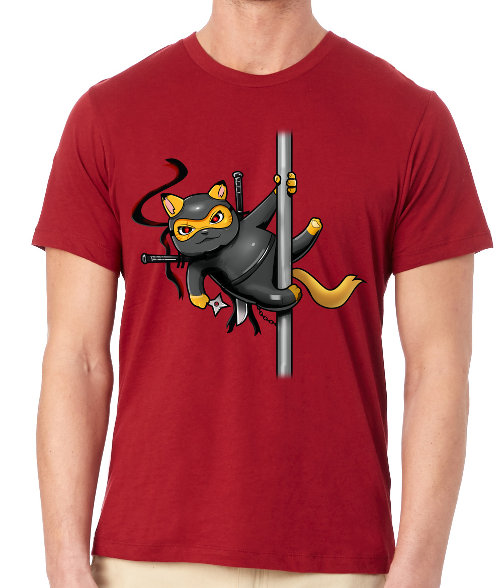 Mens Cranberry Ninja Tee Shirt $29